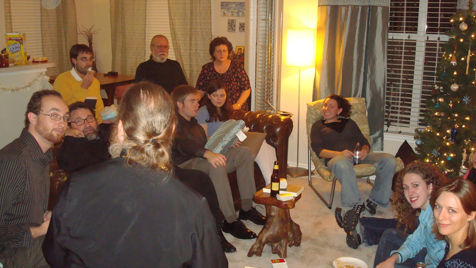 """All of us together playing """"Apples to Apples"""""""