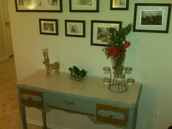 Our Christmas flowers, reindeer and sleigh
