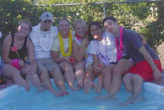 At a pool party in the 10th grade