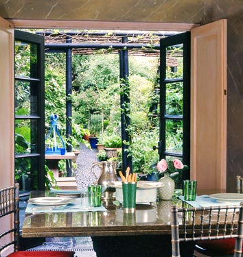 This is what I'm hoping our dining room view will look like in our new place...