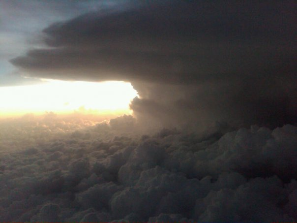 This is a picture of the storm taken by someone who was trying to land in DFW airport!