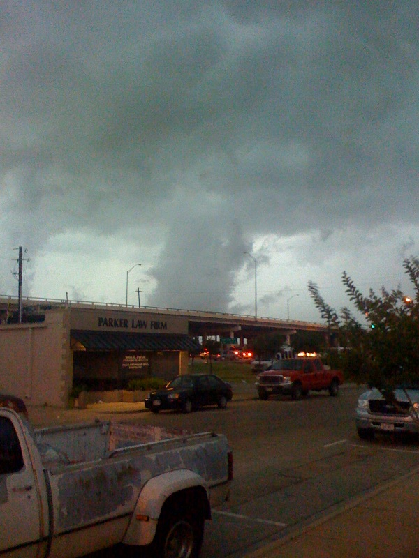 This was taken at 6:45 in Carrollton, just 10 mi. north of us.