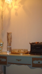 Far away view of table and decor