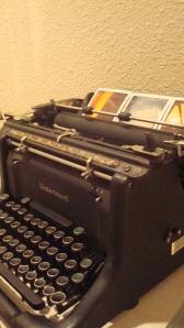 Closeup of the typewriter