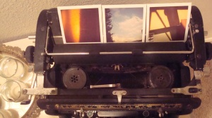 Awesome polaroids. How did she know that these colors would totally work with my decor? Psychic, I tell you