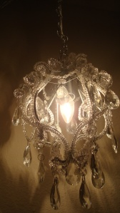 Closeup of my lamp. I thought it was a cool view.