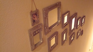 Bonus Pic: All of my little mirrors in my stairwell!