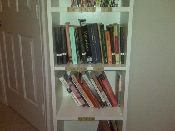 scrabble bookshelf 2