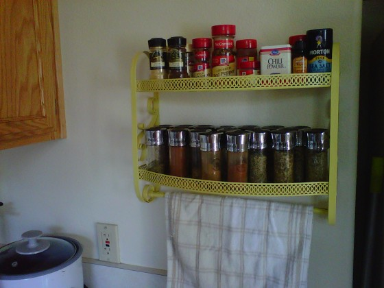 spice rack yellow