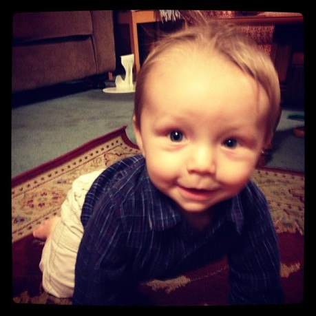 AJ 8 months smile