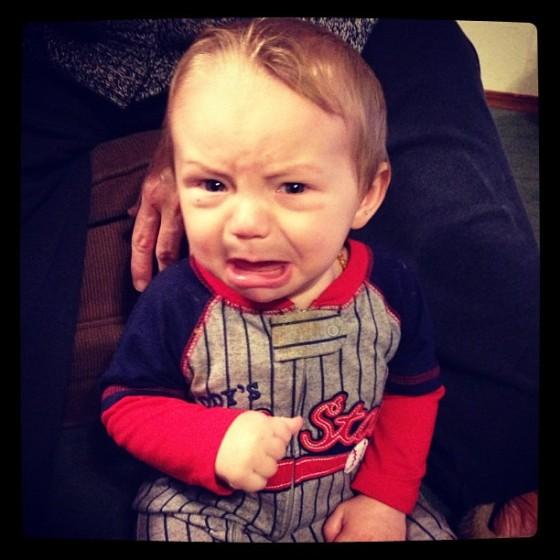 AJ cry, 8 months