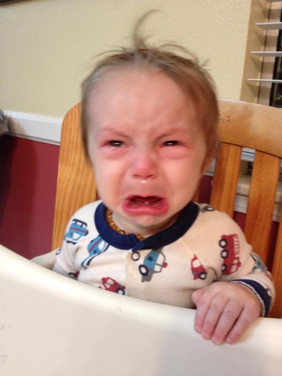 Anthony crying 9 months