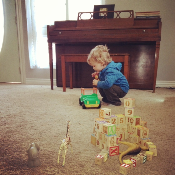 Gregory with toys 3:2013