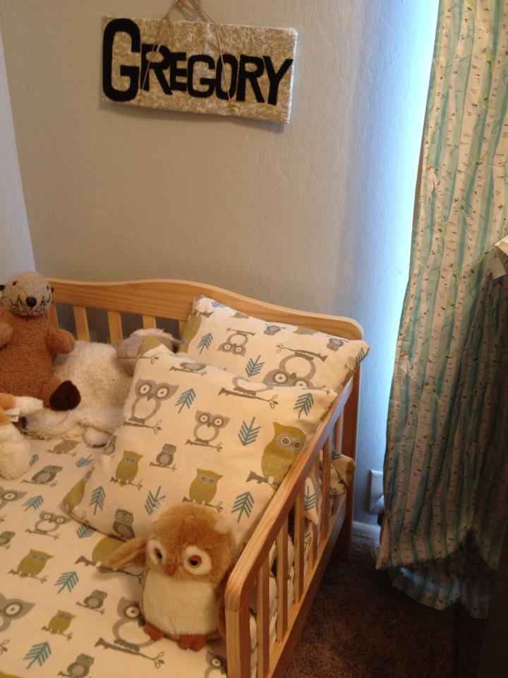Gregory's duvet and pillows