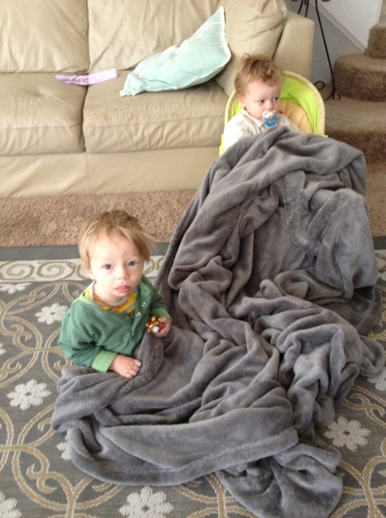 cuddling brothers