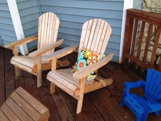Deck Furniture Adirondack chairs