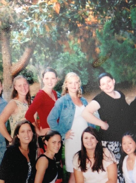 Freshman year, 2003 with roommates