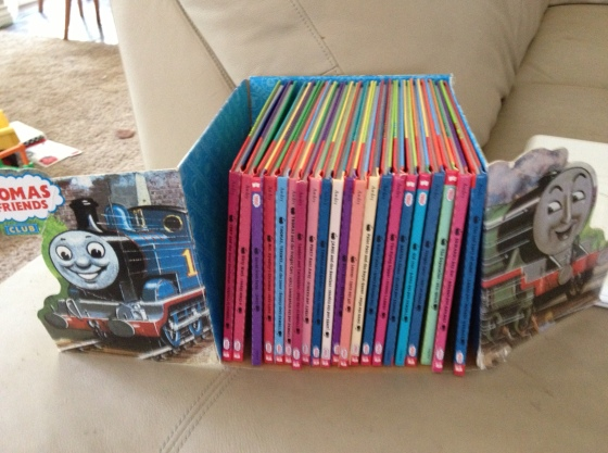 Best deal of the day-- a set of vintage Thomas the Tank Engine books!