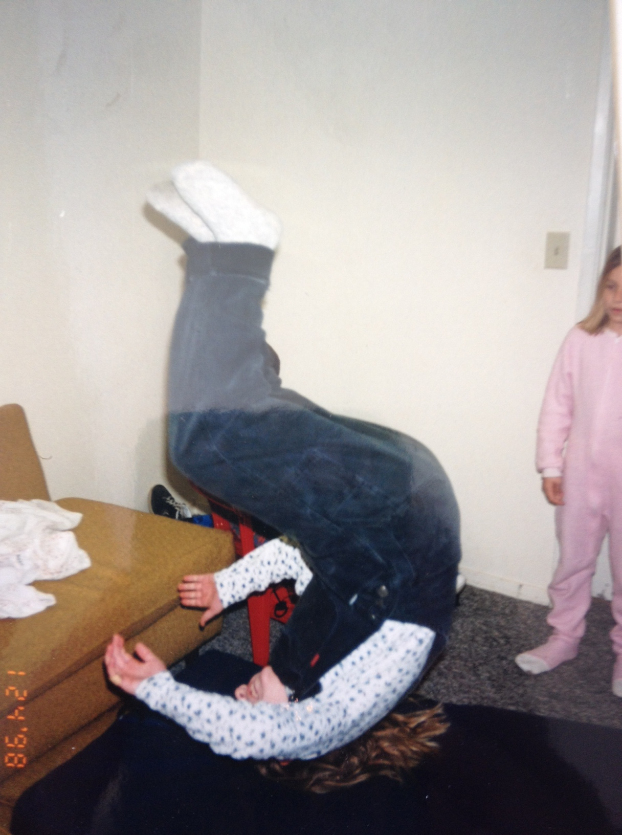 I was always doing flips off of furniture...