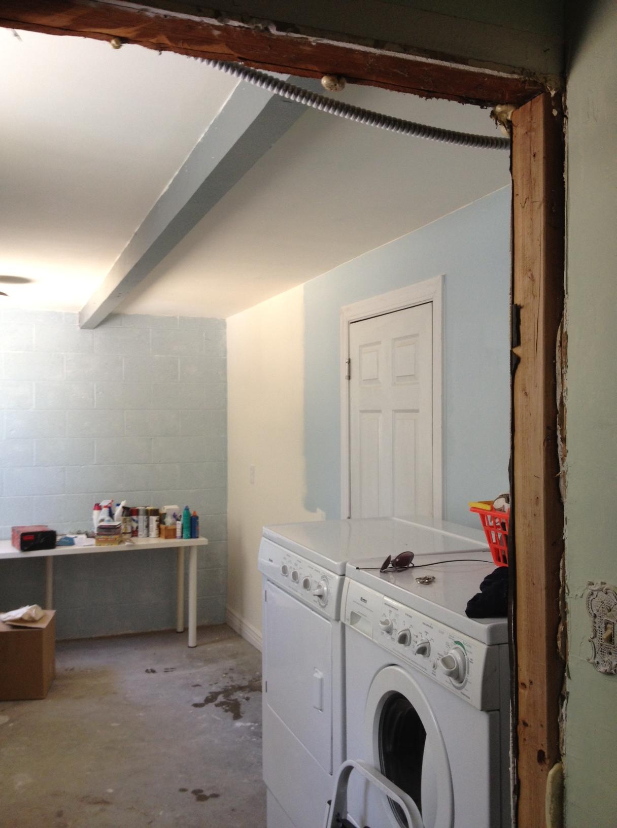 Laundry Room Progress 1