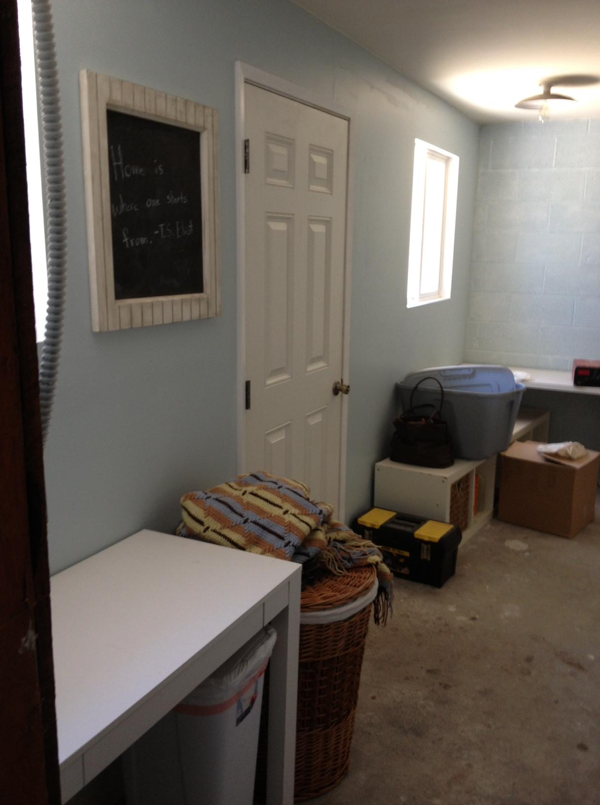 Laundry Room Progress 6