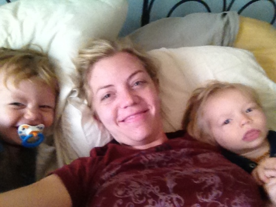 Turns out, it's super hard to get a selfie of all 3 of us, especially when one of them (ahem, Gregory!) is flailing about