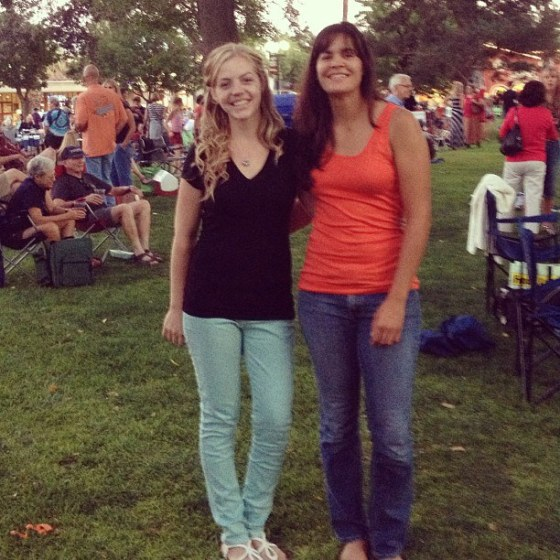 Kelly and Tess Music in the Park 1