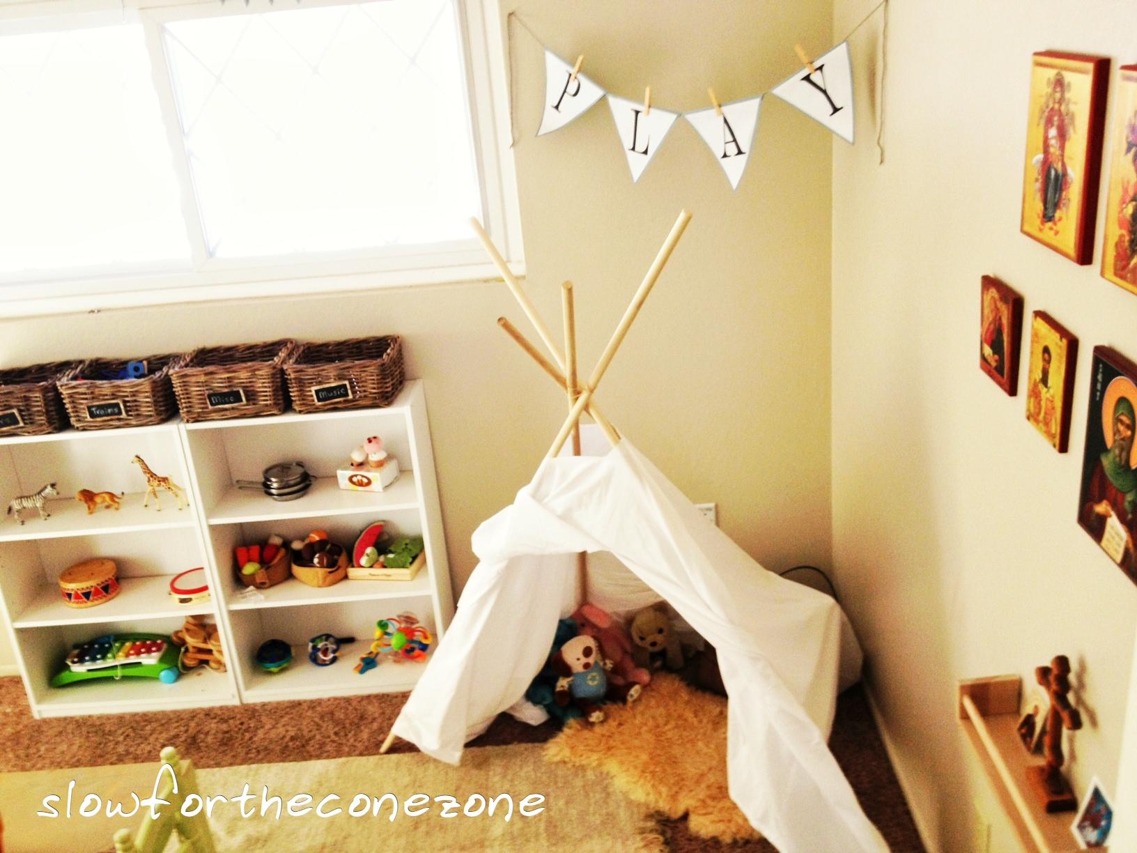 Montessori-Inspired Playroom - Our Cone Zone